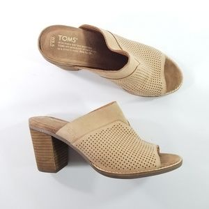 Toms size 8.5 leather perforated sandals